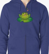 Froggy Catching Dinner Zipped Hoodie