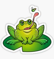 Froggy Catching Dinner Sticker