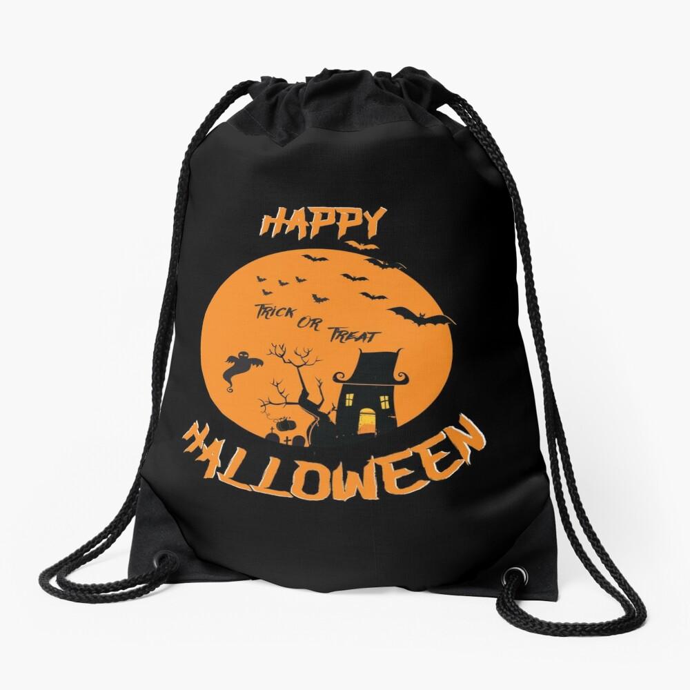 Spooky Scene Halloween Scene Scary Scene Tree. 3 Drawstring Bag