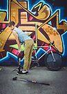 Pinup Bike Polo Cutie #1 by Jennifer Kutzleb
