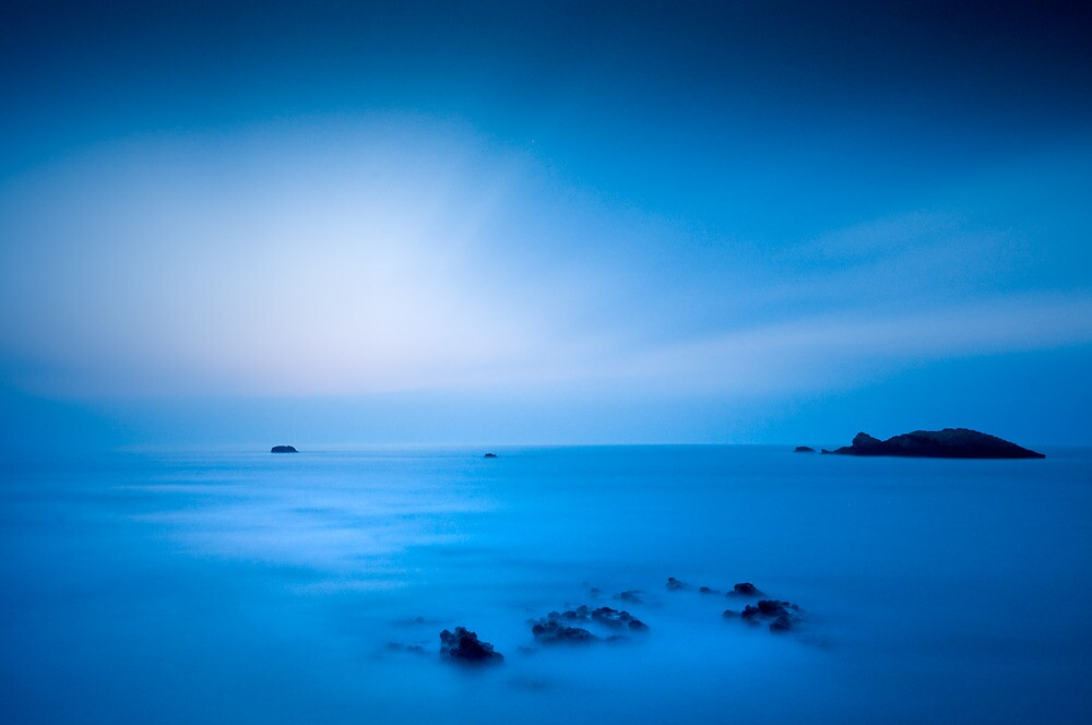 Last of the daylight in Biarritz by Kathy White