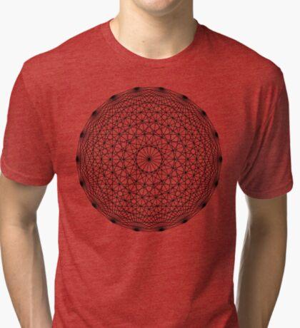 Dynamic Circle Chords II Black Tri-blend T-Shirt
