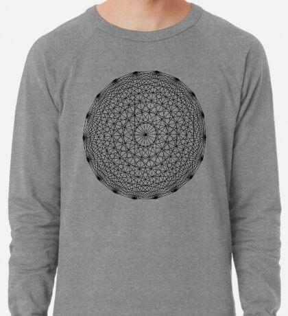 Dynamic Circle Chords II Black Lightweight Sweatshirt