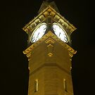 Barnstaple Clock Tower by night by Mark Langworthy