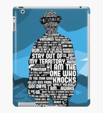 Walter White Quotes iPad Case/Skin