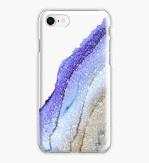 BLUE TO GOLD GLITTER iPhone Case/Skin
