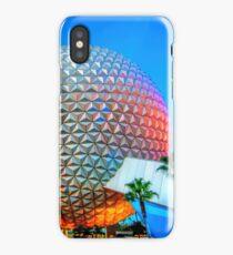 Spaceship Earth at Dusk iPhone Case/Skin