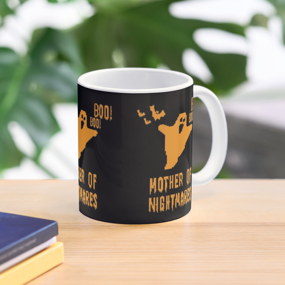 Mother of Nightmares Spooky Halloween Scary Bat Scene.  Mug