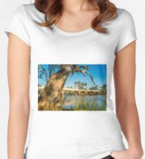 Robinvale Bridge Women's Fitted Scoop T-Shirt