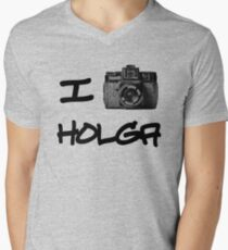 I Love Holga Mens V-Neck T-Shirt