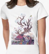 Journeying Spirit (deer) Women's Fitted T-Shirt