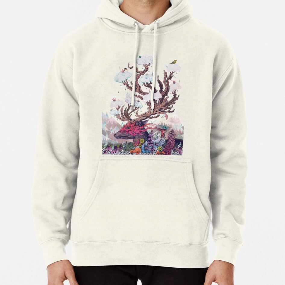 Journeying Spirit (deer) Pullover Hoodie