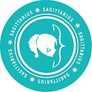 Sagittarius - Teal by kylacovert