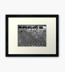 'A Fine Line' - Toronto Union Station Framed Print