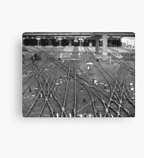 'A Fine Line' - Toronto Union Station Canvas Print