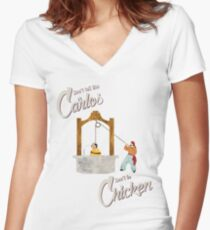 Carlos Women's Fitted V-Neck T-Shirt