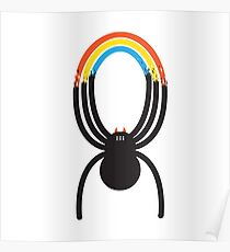 Spiders Are Rainbows Poster