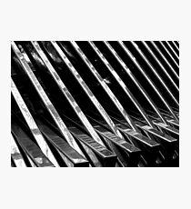 Chrome Ribbed - By. Jonny McKinnon Photographic Print
