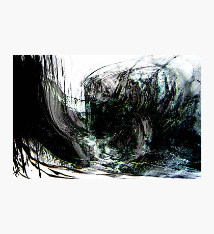 an evil black forest seascape.... dark wreck Photographic Print
