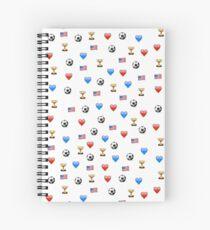 USWNT Weltmeisterschaftsmeister Emojis Spiralblock