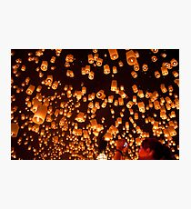 Yi Peng Lanterns Photographic Print