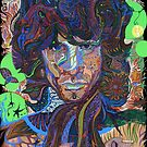 The Otherside Psychedelic Rock Portrait by David Sanders