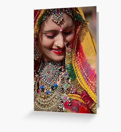 Beauty and Colors of Rajasthan Greeting Card