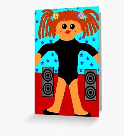 Little Rag Doll Ballet Dancer Greeting Card