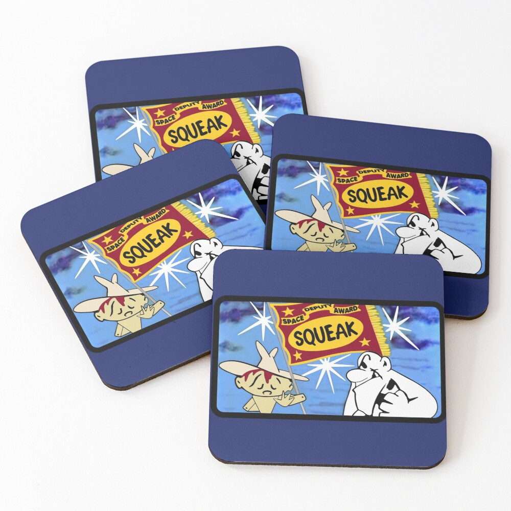 Space Deputy Award for Squeak Coasters (Set of 4)