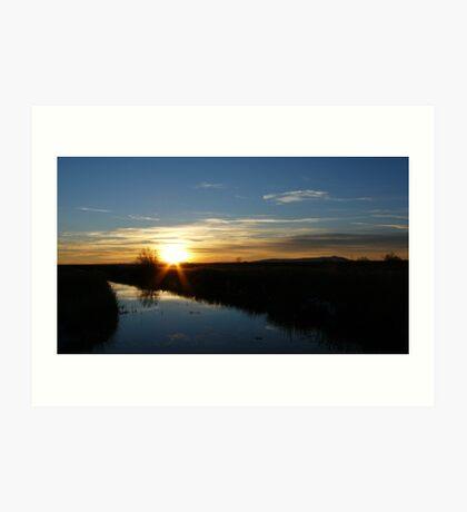 Brisky Sunset Art Print