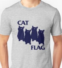 Cat Flag Funny Black Flag T-Shirt