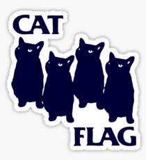 Cat Flag Funny Black Flag Sticker