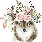 Blush Autumn Watercolor Florals by Laura-Lise Wong