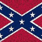 Grunge Confederate Flag Background by CreatedProto