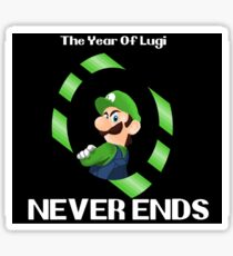 The Year Of Luigi Never Ends Sticker