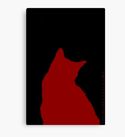 Simply Suki in Red  Canvas Print