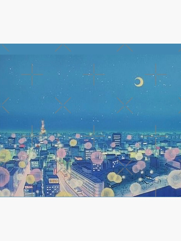 Sailor Moon Background City at Night by Freshfroot