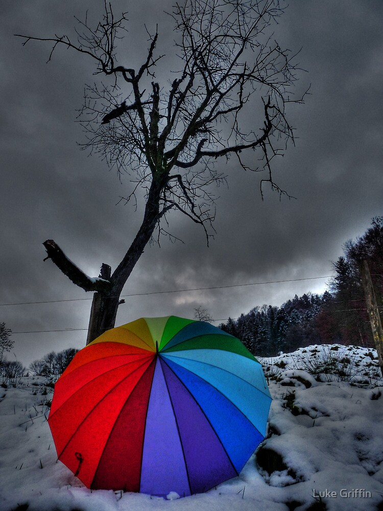 Snow Brolly by Luke Griffin