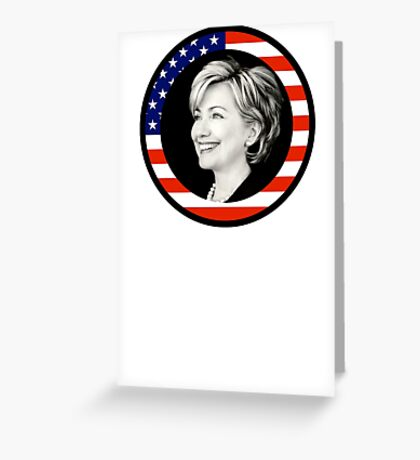 hillary clinton : us flag Greeting Card