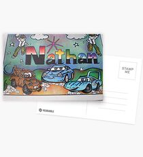 Nathan personalised picture Postcards