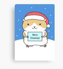 Santa Hamster Canvas Print