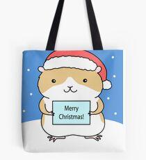 Santa Hamster Tote Bag