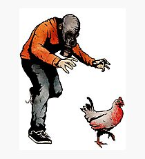 LEROY VS THE EVIL ZOMBIE CHICKEN! Photographic Print
