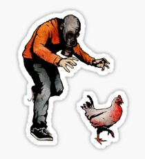 LEROY VS THE EVIL ZOMBIE CHICKEN! Sticker