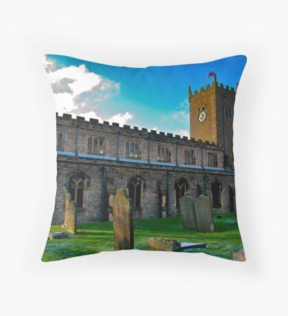 St Oswald's Church - Asgrigg Throw Pillow