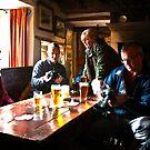 Busy Checking the Shots - Green Dragon Inn  by Trevor Kersley