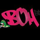 BP2 BOH Logos Baseball Tee by eL7e