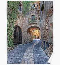 Spanish Medieval Town Poster