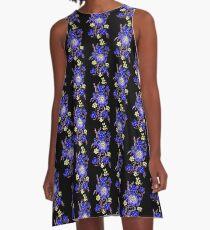Blue Boquet A-Line Dress