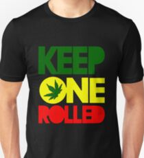 Keep One Rolled Mens Weed Smoker T-Shirt